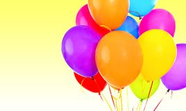 Bunch of colorful balloons on blurred background Stock Photography