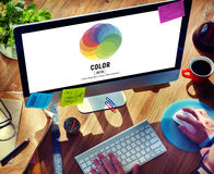 Color Colorful Shade Hue Concept Royalty Free Stock Images