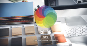 Color Colorful Shade Hue Concept Stock Image