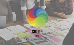 Color Colorful Shade Hue Concept Stock Photos