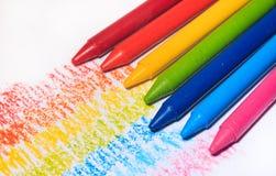 Color colorido del creyón del arco iris para los niños libre illustration