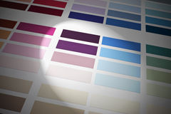 Color Colors Chart Background. A color paint chart background with a spot light Royalty Free Stock Photos