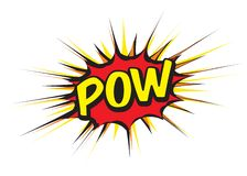 Color comic speech bubble and text POW. Vector Illustration stock illustration