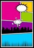 Color comics book cover vertical backdrop Stock Photography