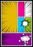 Color comics book cover vertical backdrop Stock Photo
