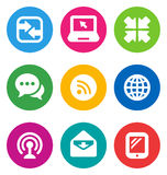 Color communication icons Stock Image