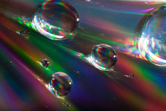 Color competition. With moving bubbles Royalty Free Stock Images