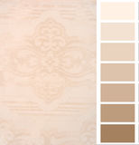Color complimentary chart card Royalty Free Stock Image
