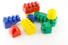 Color components of child's meccano Royalty Free Stock Photo