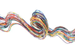 Color computer cable Stock Photo