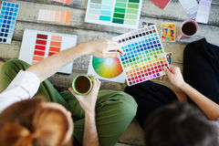 Color Concepts For Design Project Royalty Free Stock Photos