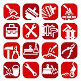 Color construction and repair icons set Royalty Free Stock Images
