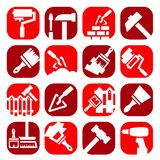 Color construction and repair icons Stock Image
