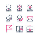 Color contour web icons, 1 Stock Images
