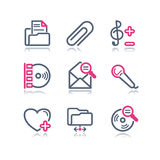 Color contour web icons, 11 Stock Images