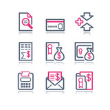 Color contour web icons, 14. Vector icons set for internet, website, guides Royalty Free Stock Photo