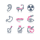 Color contour web icons, 15 Royalty Free Stock Images