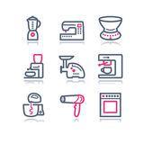 Color contour web icons, 19 Stock Image