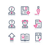 Color contour web icons, 2 Stock Images