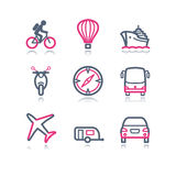 Color contour web icons, 20 Royalty Free Stock Image
