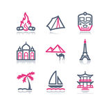 Color contour web icons, 22 Royalty Free Stock Image