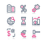 Color contour web icons, 25 Royalty Free Stock Images