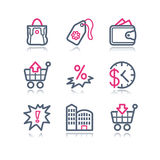 Color contour web icons, 26 Stock Photography