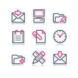 Color contour web icons, 27 Stock Image