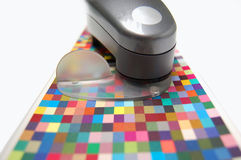 Color control. Instrument to check printed colors Stock Image