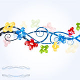 Color cool shiny background shape banner Stock Image