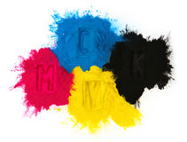 Color copier toner Royalty Free Stock Image