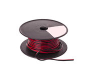 With color copper electric cable reel Royalty Free Stock Images