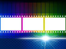 Color Copyspace Means Negative Film And Blank. Glow Color Representing Light Burst And Film-Roll Stock Images