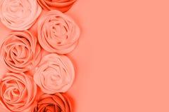 Color coralino de vida del pantone foto de archivo