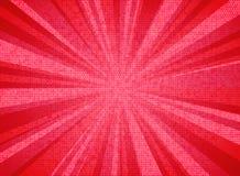 Color coralino de vida de la explosión abstracta del sol del fondo del diseño de la textura del modelo del círculo del año 2019 U ilustración del vector