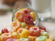 Color cornflake and milk Stock Images