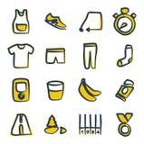 Color corriente 2 de los iconos a pulso Fotos de archivo