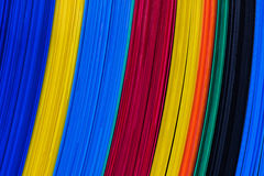 Color corrugated plastic sheets, feature board. Stock Photography