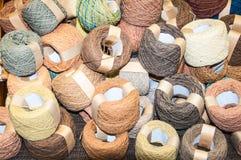 Color cotton thread roll Stock Photos