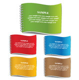 Color cover of Notebook. Stock Photography
