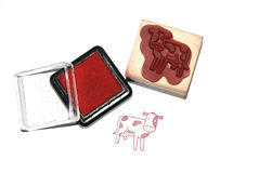 Color cow stamp Royalty Free Stock Images