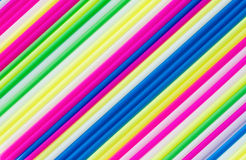 Color craft straws Royalty Free Stock Photo