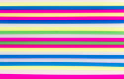 Color craft straws Royalty Free Stock Photography
