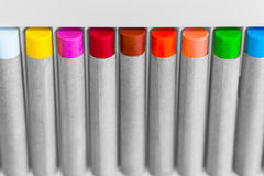 Color crayon in angle Royalty Free Stock Photos
