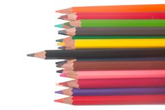 The color Crayon. Isolated on white background Royalty Free Stock Photography