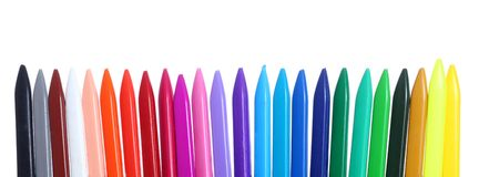 Color Crayons Stock Photos