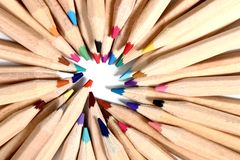 Color crayons Stock Images
