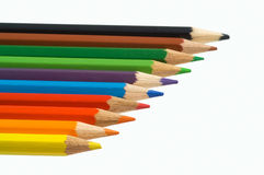 Color crayons. Isolated over white background Royalty Free Stock Photo