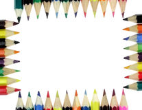Color crayons. Arranged in canon crayons Royalty Free Stock Photography