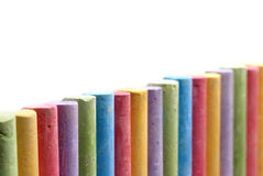 Color crayons arranged in line Stock Image